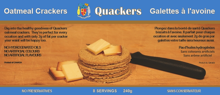 quackers label blue